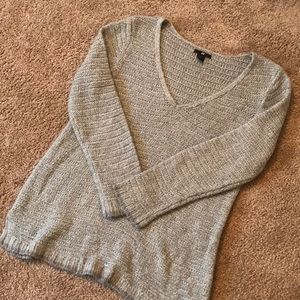 Grey V-Neck Sweater size Medium! Great Condition!